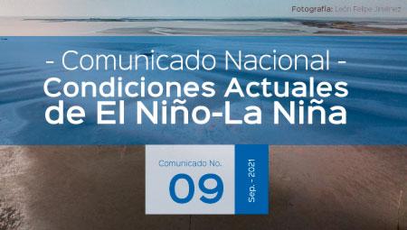 Seguimiento de los Fenómenos EL NIÑO – LA NIÑA Comunicado No. 9 de 2021